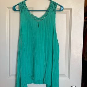 Green/teal tank top; Maurice's; Plus size 3x
